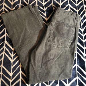 Gray timberland Corduroy Pants